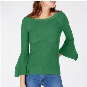 I.N.C. Flutter-Sleeve Sweater
